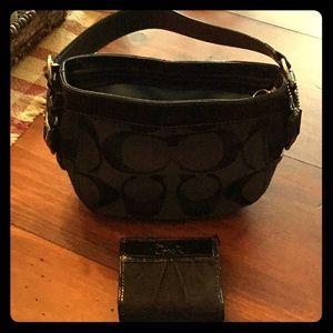Coach handbag & wallet combo!